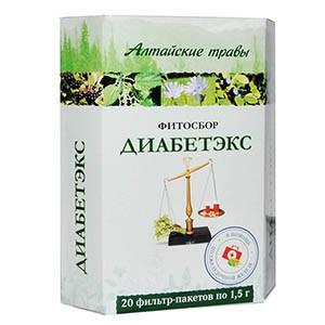 Фитосбор Алтайские травы «Диабетэкс»
